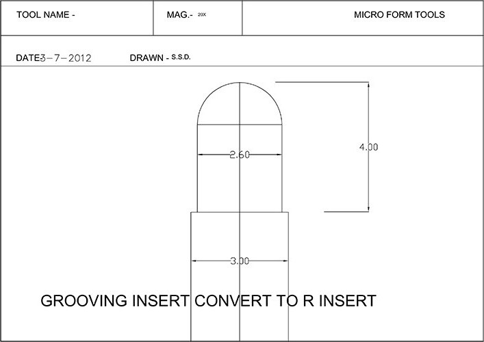 Grooving Inserts convert to R Inserts