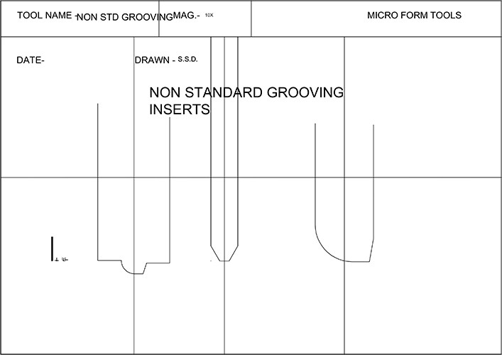 Non Standard Grooving Inserts